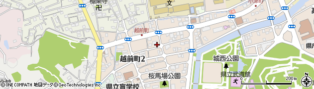 高知県高知市桜馬場周辺の地図