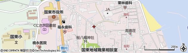 大分県国東市国東町鶴川91周辺の地図