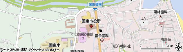 大分県国東市周辺の地図