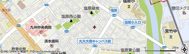 福岡県福岡市南区塩原周辺の地図