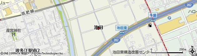 福岡県糸島市池田周辺の地図