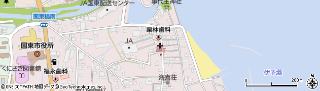 大分県国東市国東町鶴川402周辺の地図