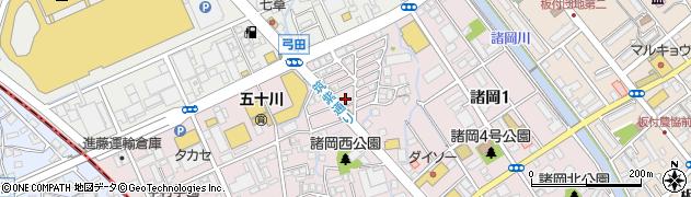 福岡県福岡市博多区諸岡周辺の地図