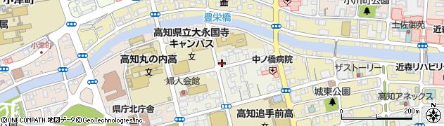 高知県高知市永国寺町周辺の地図