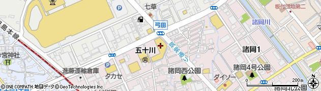 パンジークリーニング弓田店周辺の地図