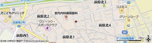 福岡県糸島市前原北周辺の地図