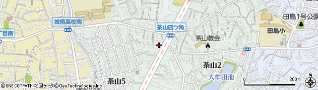福岡県福岡市城南区茶山周辺の地図