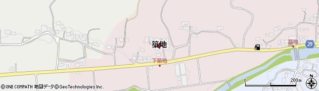 大分県豊後高田市築地周辺の地図
