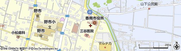 高知県香南市周辺の地図