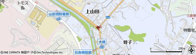 大橋北周辺の地図
