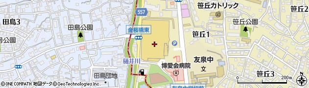 クリーニングの博栄ダイエー笹丘店周辺の地図