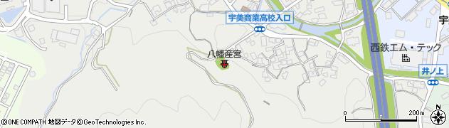 八幡産宮周辺の地図