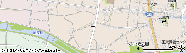 大分県国東市国東町田深158周辺の地図