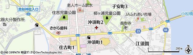 大分県宇佐市沖須町周辺の地図
