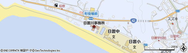 白浜町日置川事務所周辺の地図