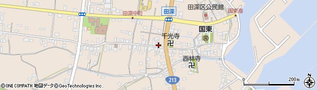 大分県国東市国東町田深周辺の地図