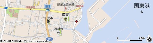 大分県国東市国東町田深1648周辺の地図