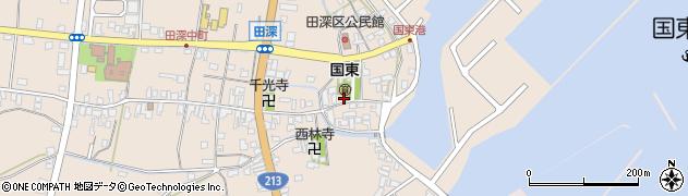 大分県国東市国東町田深1664周辺の地図