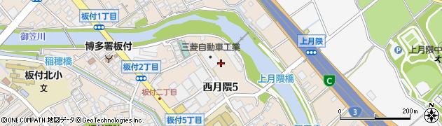 福岡県福岡市博多区西月隈周辺の地図
