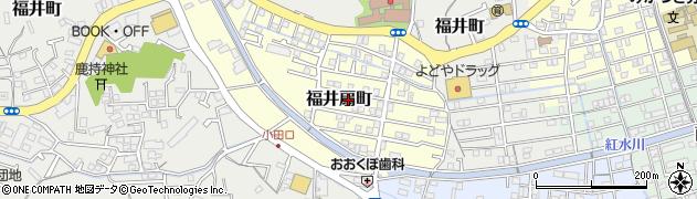 高知県高知市福井扇町周辺の地図