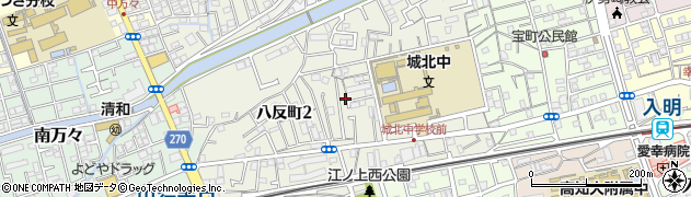高知県高知市八反町周辺の地図