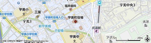 福岡県宇美町(糟屋郡)周辺の地図