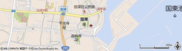 大分県国東市国東町田深1654周辺の地図