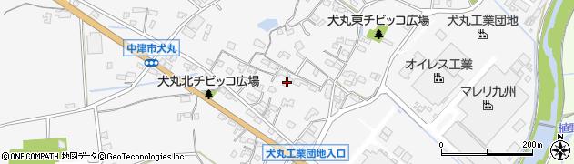 大分県中津市犬丸596周辺の地図