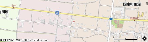 大分県国東市国東町田深715周辺の地図