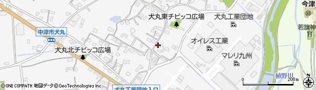 大分県中津市犬丸283周辺の地図