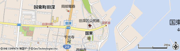 大分県国東市国東町田深1588周辺の地図