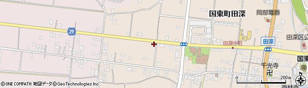 大分県国東市国東町田深686周辺の地図