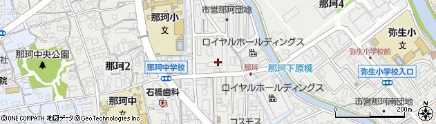 福岡県福岡市博多区那珂周辺の地図