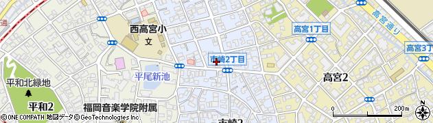福岡県福岡市南区市崎周辺の地図