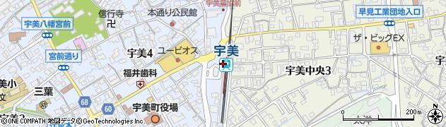 福岡県糟屋郡宇美町周辺の地図