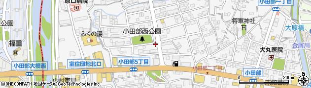 福岡県福岡市早良区小田部周辺の地図