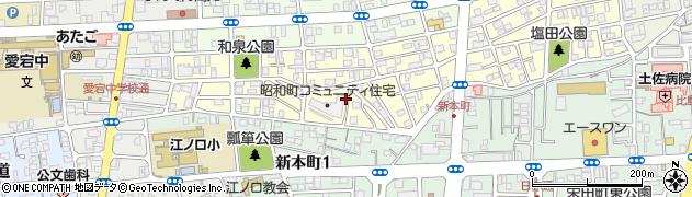 高知県高知市昭和町周辺の地図