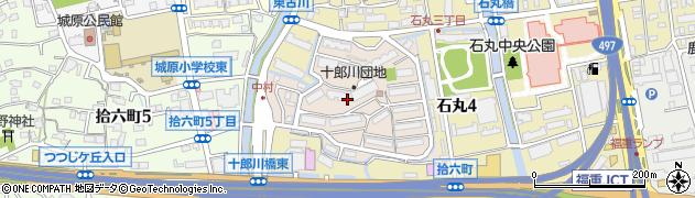 福岡県福岡市西区十郎川団地周辺の地図