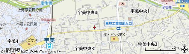 福岡県宇美町(糟屋郡)宇美中央周辺の地図