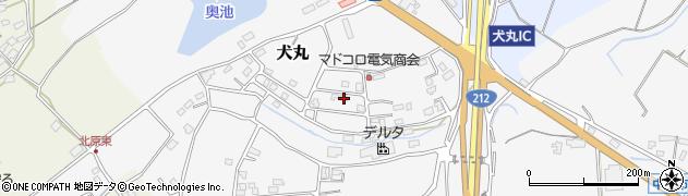 大分県中津市犬丸周辺の地図