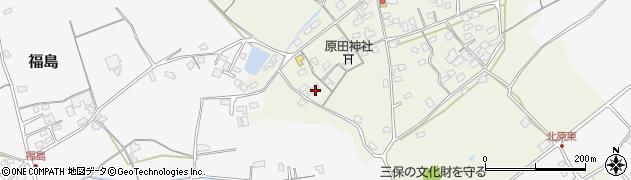 大分県中津市北原377周辺の地図