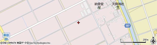 福岡県糸島市新田周辺の地図