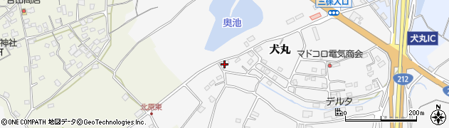大分県中津市犬丸2286周辺の地図