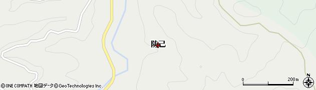和歌山県すさみ町(西牟婁郡)防己周辺の地図