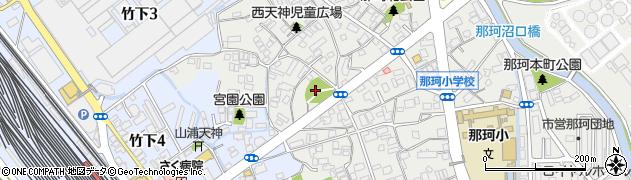 那珂八幡宮周辺の地図