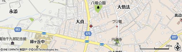 大分県中津市大貞354周辺の地図