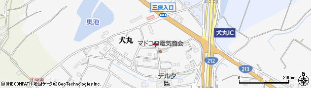 大分県中津市犬丸2375周辺の地図