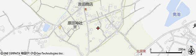 大分県中津市北原262周辺の地図