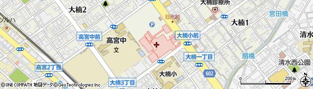 福岡県福岡市南区大楠周辺の地図