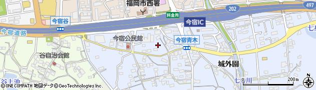 福岡県福岡市西区今宿青木163周辺の地図